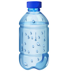 Drinking water in plastic bottle vector