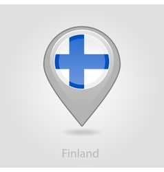 Finland flag pin map icon vector image vector image