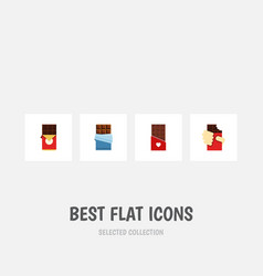 Flat icon bitter set of chocolate bar shaped box vector