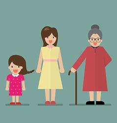 Generation of women vector image