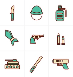 Icons style icons style military icons vector