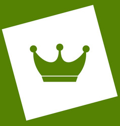 King crown sign white icon obtained as a vector