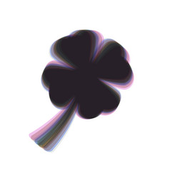 Leaf clover sign colorful icon shaked vector