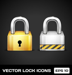 Lock icons vector