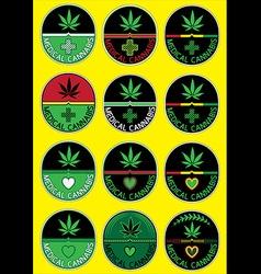 medical cannabis leaf symbol design vector image vector image