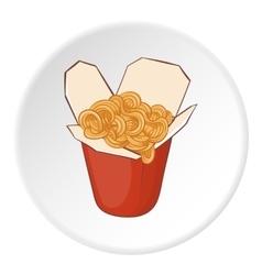 Pasta icon cartoon style vector image