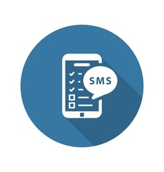 Reminders by sms and medical services icon flat vector