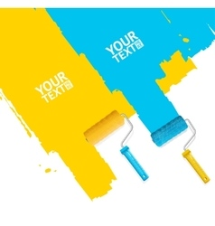 Roller Brush Painting Banner vector image vector image