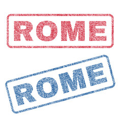 Rome textile stamps vector