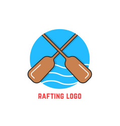 Round blue rafting logo vector