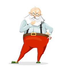 santa claus scratching his beard much thought vector image vector image