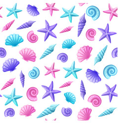 sea shells pattern vector image