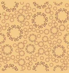 Seamless henna flower mandala for print on textile vector