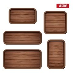 Set of old wooden boards vector