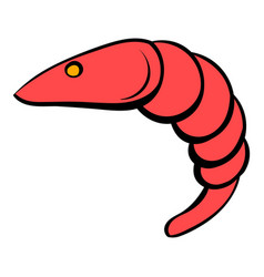 Shrimp icon cartoon vector
