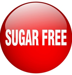 Sugar free red round gel isolated push button vector