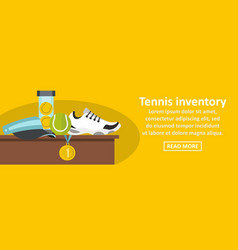 Tennis inventory banner horizontal concept vector