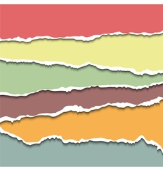 Torn paper sheets vector image