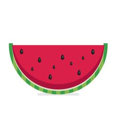 Water melon bitten piece cartoon vector