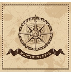 Wind Rose - nautical compass vector image