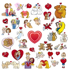 Valentine big cartoon collection vector