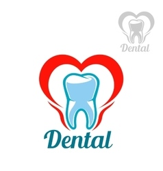 Dental isolated tooth icon vector