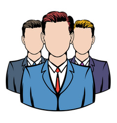 businessmen icon cartoon vector image