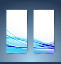 Bright modern vertical banner set layout vector