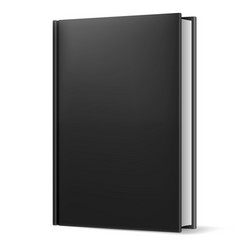Black book on white background for design vector