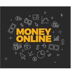 Online money concept vector