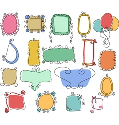 Victorian ornaments hand drawn vector