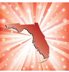 Red florida vector