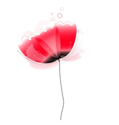 Cute beautiful abstract poppy flower vector