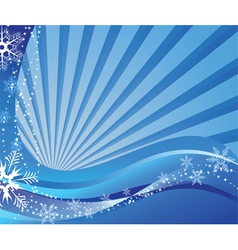 Snowflakes waves vector