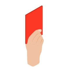 Referee showing red card isometric 3d icon vector