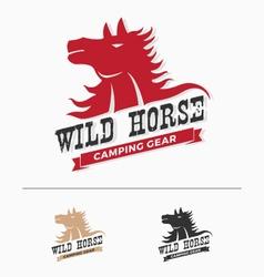 Wild horse logo template vector