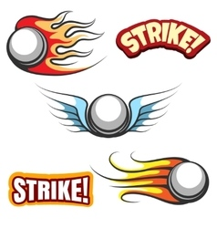 Bowling ball icons vector