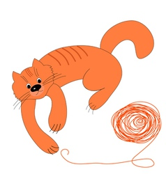 Cat wool vector