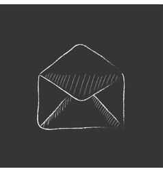 Envelope Drawn in chalk icon vector image