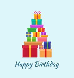 Happy birthday with gifts vector