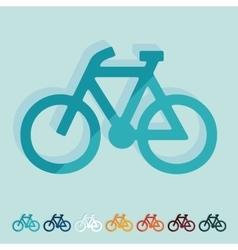 Flat design bicycle vector