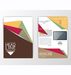 A4 Abstract Background design Business Brochure vector image vector image
