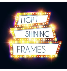 Abstract Shining Frame Retro Light Banner vector image vector image