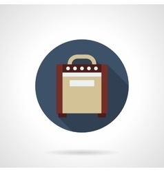 Amplifier box round color icon vector