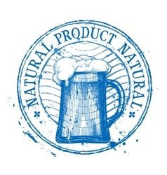 Beer shabby stamp vector