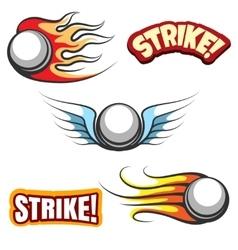 Bowling ball icons vector image vector image