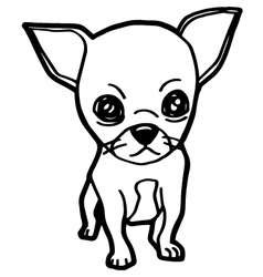 Dogs coloring page vector