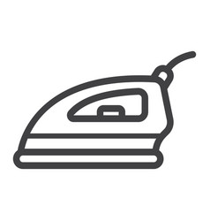 electric iron line icon household and appliance vector image