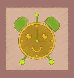 flat shading style icon kids alarm clock vector image vector image