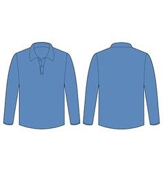 Longsleeves shirt vector